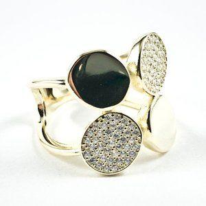 Jewelry - Elegant Multi Round Disc Design Gold Silver Ring